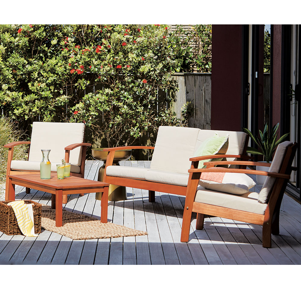 Coastal Classic Kingsbury 9 Piece Wooden Outdoor Furniture Setting