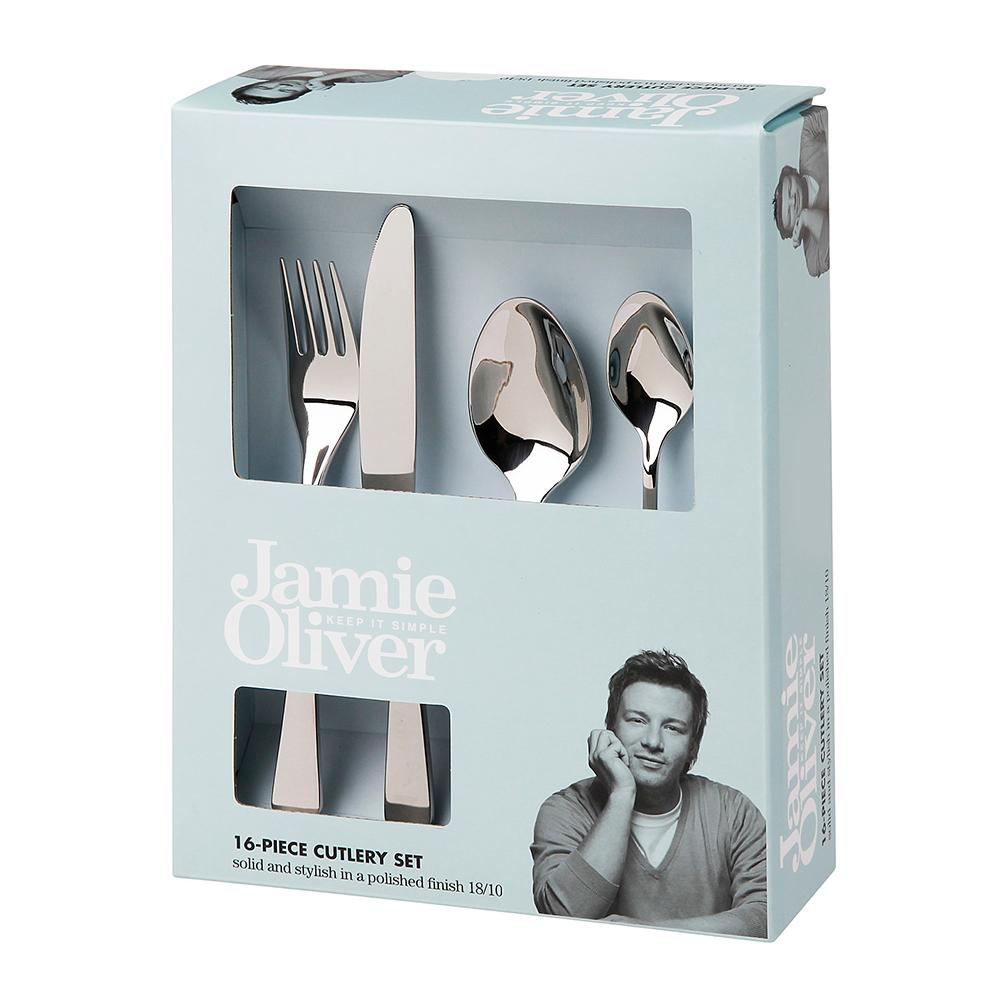 polished Jamie Oliver Vintage cutlery set 16 piece 18//10