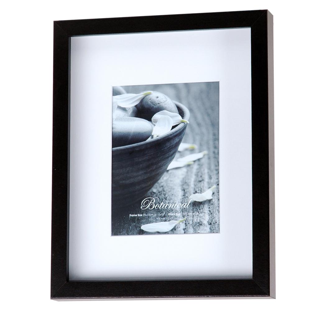 Ur1 Botanical Photo Frame Black 10x13 With 6x8 Opening